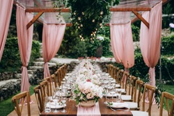 Wedding table decoration and floral design