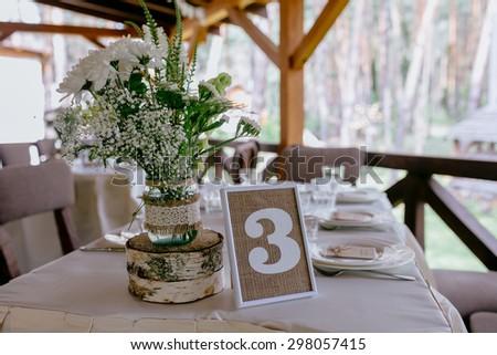 wedding table on rustic wedding
