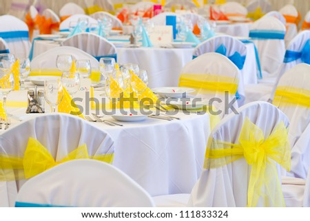 wedding table set for fine dining or another catered event