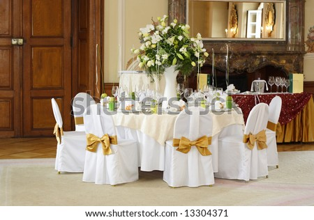 Wedding Table Setting Stock Photo 13304371 : Shutterstock