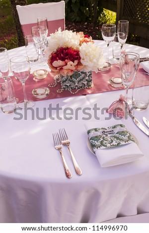 Wedding Table Setting/ out door wedding table setting