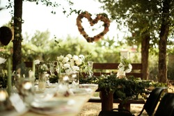 wedding table, wedding cake, wedding decorations