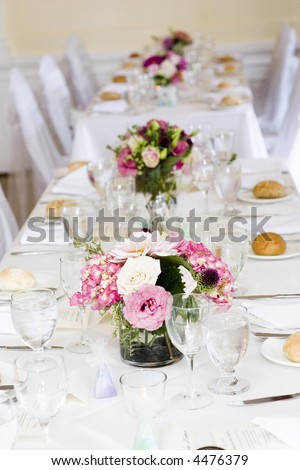 stock photo wedding tables