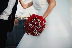 wedding the bride's bouquet