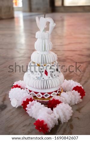Wedding Thermocol Mukut Mala Stock Photo Stock photo ©