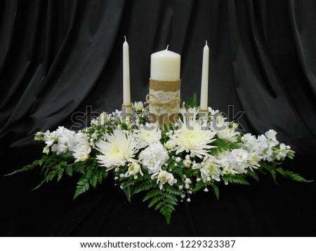 Wedding Unity Candle Centerpiece