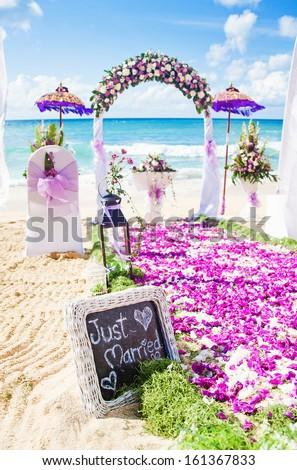 wedding venue on a beach