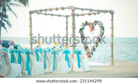 wedding venue on the beach #231144298