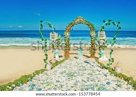 wedding venue on the beach, bali