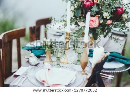 wedding vintage instalation  decore catering #1298772052