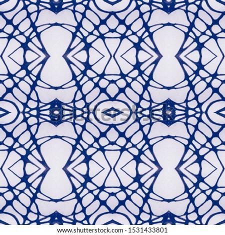 Wedding vintage lace seamless. Ethnic Ornament Print. Ornate Tile Background Blue Azure Tile Oriental style. Antique Element Hand Drawn. Kaleidoscope Pattern Floral Elements Floral Elements