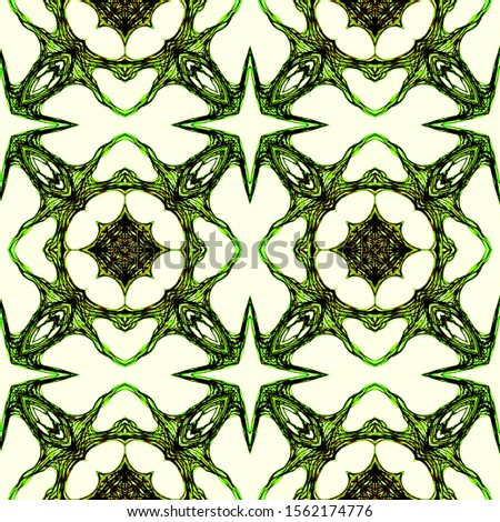 Wedding vintage tile seamless. Ornamental Geometry. Ornamental Geometry. Green Colors Decoration print. Asian Ornament. DIY effect art. Kaleidoscope Art. Floral Design. Floral Elements