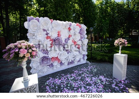 Wedding Day Paper Flowers In Decor Luxury Decoration