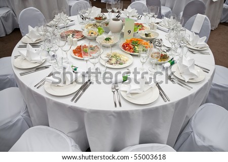 decorations for wedding food banquet tables