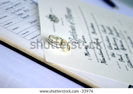 Weding Rings - stock photo