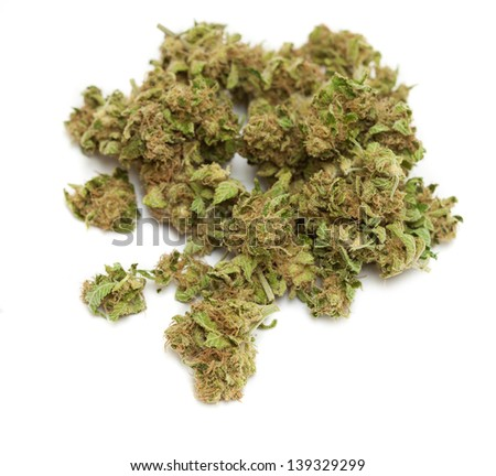 weed isolated on white background