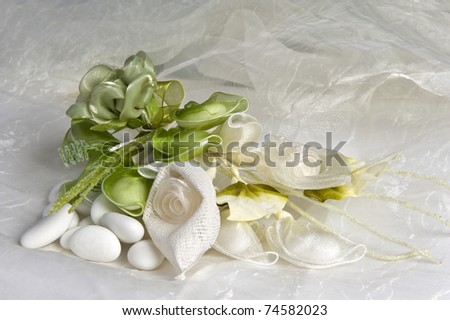 weeding Favors green and candy for weddings