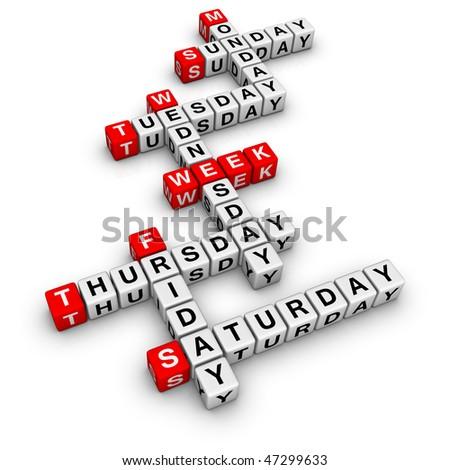 weekdays (from crossword series)