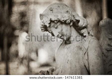weeping angel tombstone - textured