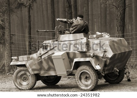 Wehrmacht armored vehicle - WW2 battlefield - Europe