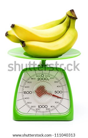 Weigh the banana  with a kitchen scale.