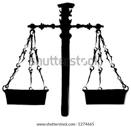 Weighing Scales Illustration - 1274665 : Shutterstock