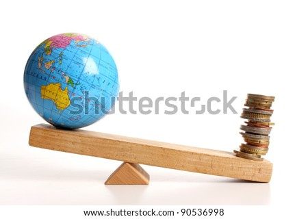 Weighing the earth on a wooden balance