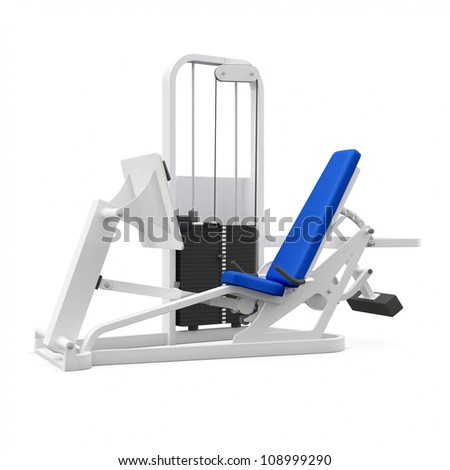Weight bench for legs isolated on white background