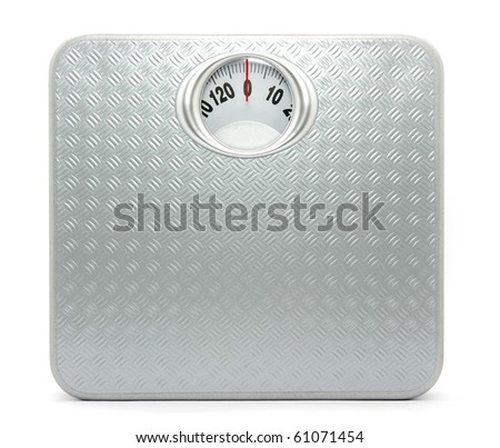 Weight control by floor scale