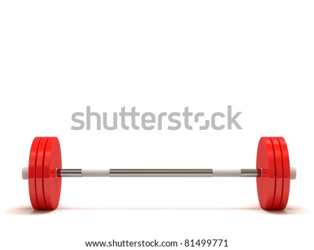 Weight Isolated on White Background (Hight Resolution 3D Image)