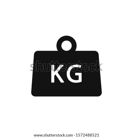 Weight kilogram icon and illustration