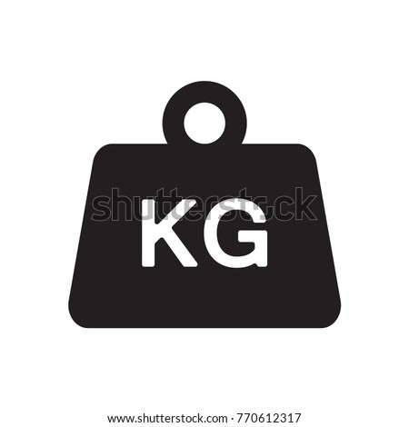 Weight kilogram icon illustration