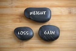 Weight, Loss, Gain. Health conceptual.