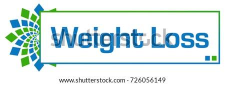 Weight Loss Green Blue Circular Bar