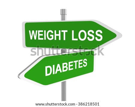 Weight loss or diabetes road sign Stock photo ©