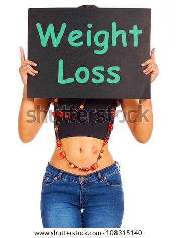Weight Loss Signboard Shows Dieting Advice