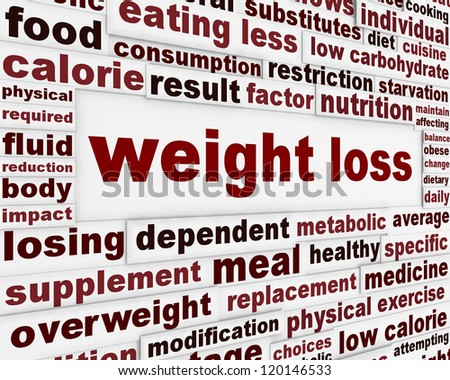 Weight loss warning message background. Overweight medical poster design