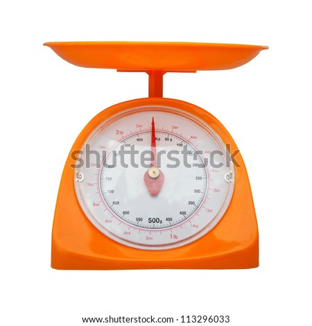weight measurement balance isolated white background