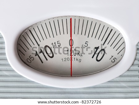 Weight - 0 on the scale