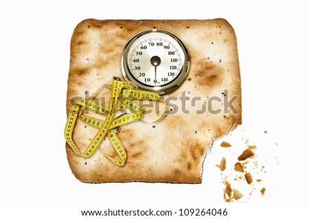 Weight scale made of cookies