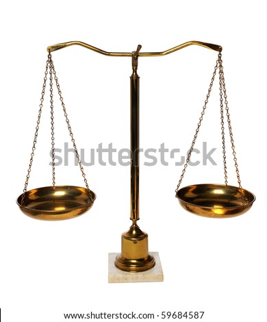 Weight scales isolated over white background