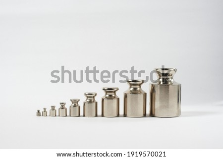 weight weights nine pieces, standard weight Сток-фото ©