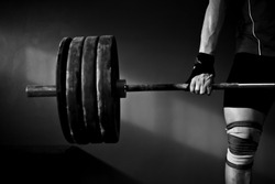 weightlifter in a old gym
