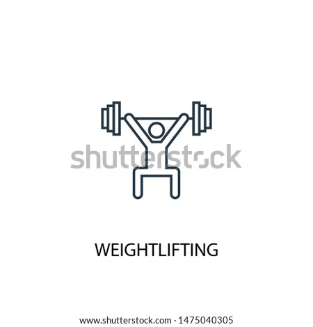 Weightlifting concept line icon. Simple element illustration. Weightlifting concept outline symbol design from Sport set. Can be used for web and mobile UI/UX