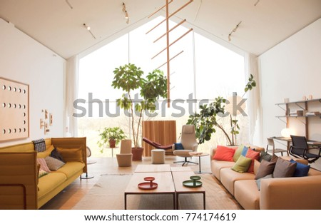 WEIL AM RHEIN, GERMANY - NOVEMBER 26, 2017: Interior inside VitraHaus building. Top view. #774174619