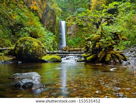 Weisendanger Falls in the Columbia River Gorge, Oregon