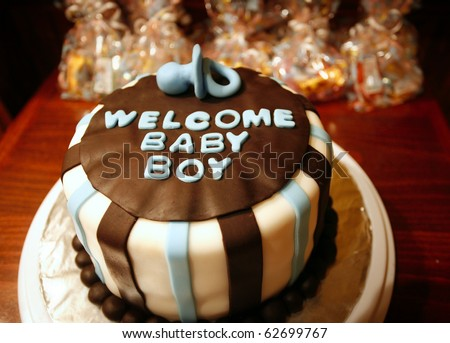 Welcome Baby Boy cake for new born celebrations (baby shower)