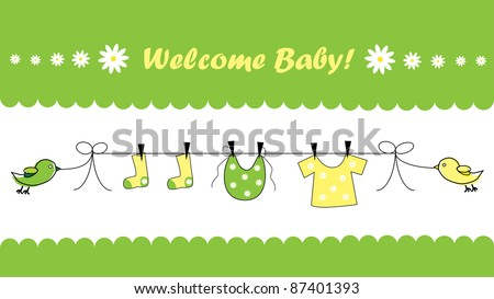 welcome baby shower announcement stock photo 87401393 shutterstock