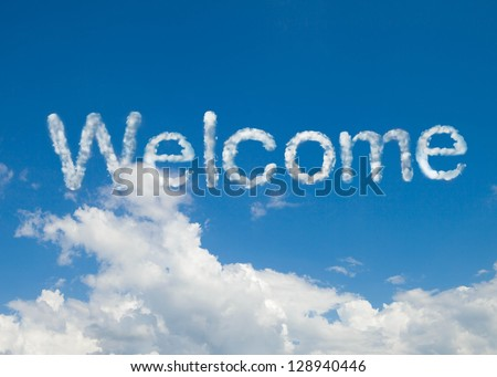 welcome cloud word