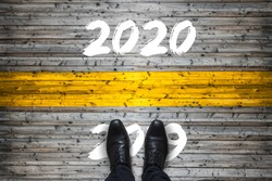Welcome 2020 - Goodbye 2019 - Start Concept